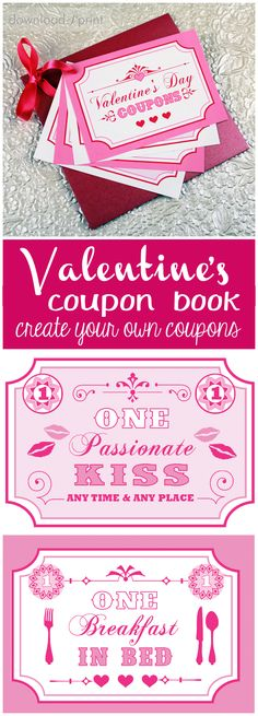 Free printable coupon book for your sweetie! Use my coupon ideas or create your own. Free Printable Coupons, Free Printables, Easy Valentine Crafts, Valentines, Free Printable Wedding Invitations, Cardmaking And Papercraft, Love Coupons, Paper Craft, Card Making