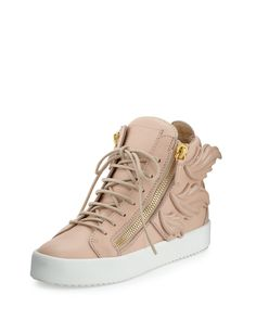 bba402563fe3ff lyst.com The detailing on the back of this sneaker is definitely different  and bold · High Top ...