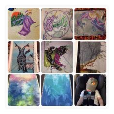 Here are my stitches for March. I didn't quite keep up with photos as well as I should. In the bottom row there are two new fabric stashqusitions. One will be for Andromeda and the other for Mermaid Heaven. #stitchfromstash2017 #stitchmaynia #xstitch #crossstitch #march #2017 #xstitching #xstitchersofinstagram #pointdecroix #flosstube