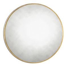 Junius Round Gold Round Mirror
