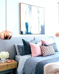 grey pink blue bedroom blush white and grey bedroom inspiration loft bedroom and. - Pink Bedroom For Teens grey pink blue bedroom blush white and grey bedroom inspiration loft bedroom - Bedroom Themes, Bedroom Colors, Home Decor Bedroom, Bedroom Designs, Bedroom Furniture, Diy Bedroom, Furniture Plans, System Furniture, Kids Furniture