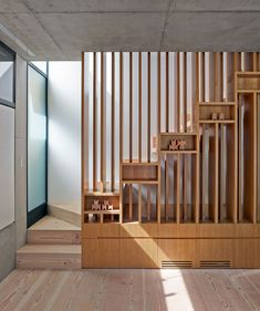 Nobbs RadfordArchitects - desire to inspire -  a detail of the stairs, bottom and top