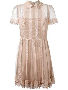 Red Valentino Lace Dress - Eraldo - Farfetch.com