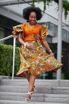Shop our new collection of African Print Ankara Wrap tops. Handmade in high quality African Ankara wax print in a variety of colours. It can be worn casually or dressed up to give an African elegance. African Print Dresses, African Print Fashion, African Wear, African Attire, African Fashion Dresses, African Style, Modern African Dresses, African Print Skirt, Ankara Fashion