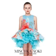 The First Flower of Spring dress from Mischka Aoki SS16 Collection available at our stockists worldwide #mischkaaoki #hautecouture #luxury by mischkaaoki