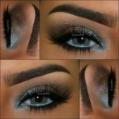 Eye make up for blue eyes Skin Makeup, Eyeshadow Makeup, Natural Eyeshadow, Foil Eyeshadow, Colourpop Eyeshadow, Yellow Eyeshadow, Cat Makeup, Fairy Makeup, Makeup Box