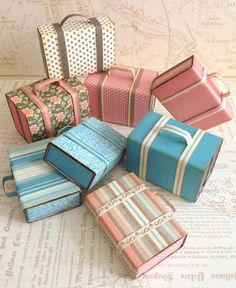 How to Create Mini Suitcases From Matchboxes from Katie #graphic45 #tutorials