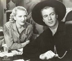 Jean Arthur and Gary Cooper