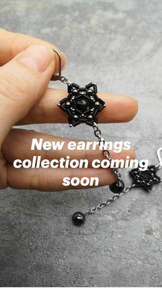 Crystal Brooch, Beaded Brooch, Crystal Earrings, Star Earrings, Beaded Earrings, Statement Earrings, Bead Kits, Handmade Beaded Jewelry, Beading Tutorials