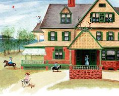 "Sagamore Hill from Barbara Clooney's children's book, ""Eleanor."""