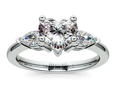 Heart Pear Diamond Engagement Ring in Platinum  http://www.brilliance.com/engagement-rings/pear-diamond-ring-platinum-1/2-ctw