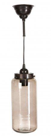 """лампа серо-коричневая """"Цилиндр"""" - купить в интернет магазине Интерьерная Лавка"""