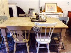 Gorgeous vintage solid pine farmhouse cottage table.   Each table hand sourced from a selection of pretty vintage farmhouse tables available to me at the time of order to bring a really bespoke country cottage farmhouse look to your country cottage kitchen, vintage dining room, tearoom, vintage bistro or your country cottage bolthole!!   Your table will be individual to you and  I able to source vintage 4 ,6  and larger 8 to 10 seaters starting at £249.. www…