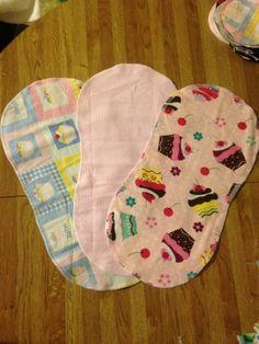 Baby burp rags: set of 3 by SewNorthwest on Etsy