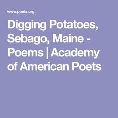Poem snapping beans
