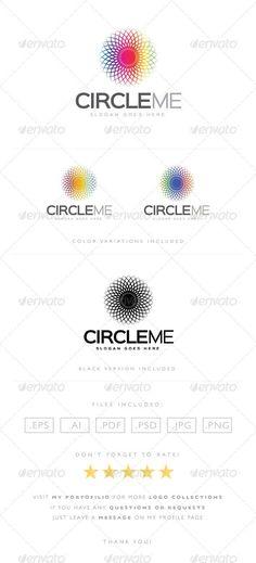 Circle Me Logo: Abstract Logo Design Template created by LogoLabs. Circle Logo Design, Circle Logos, Logo Design Template, Logo Templates, Graphic Design, Circle Symbol, Circle Circle, Logo Psd, Entertainment Logo