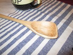Handcrafted Long Handle Maple Wooden Spoon by SpuzzoWoodworking