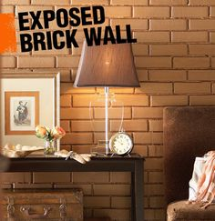 An exposed brick wall often refers to a brick wall that was previously covered in either drywall or plaster that for various reasons has been uncovered and left bare, with just bricks and mortar showing. Today, they are commonly found in restored industrial spaces.