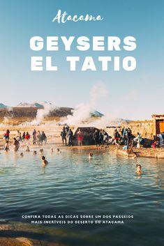 Um dos passeios mais extremos do Atacama! Para conhecer os Geysers el Tatio, você vai precisar de roupas bem quentinhas e também disposição, já que o passeio sai de madrugada. Mas, não deixe que isso te desanime, este é um dos tours mais incríveis do Atacama. Ver os geysers tão de perto é simplesmente surreal! #viajandonajanela #geyserseltatio #atacama #chile #desertodoatacama #mochilão #mochileiros #geisereseltatio #geiseresdeltatio #geysersdeltatio #travel #viagem #viajenaviagem