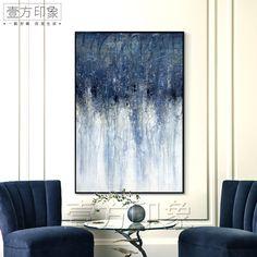 美式乡村超大幅装饰画现代客厅抽象大尺寸挂画巨幅油画样板房壁画-淘宝网