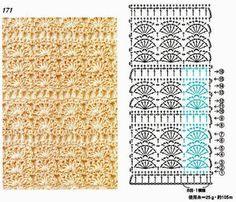TRICO y CROCHET-madona-mía: Esquemas de puntos para tejer bufandas a ganchillo