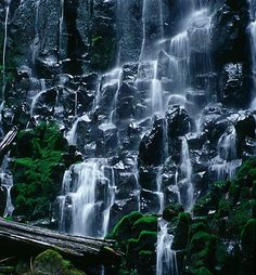 Ramona Falls is located up on the mountain with about a 3 mile hike to get to it.