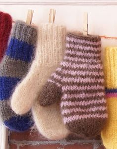 Warm and Fuzzy Mittens free knitting pattern on Classic Elite Yarns at http://www.classiceliteyarns.com/WebLetter/61/Issue61.php