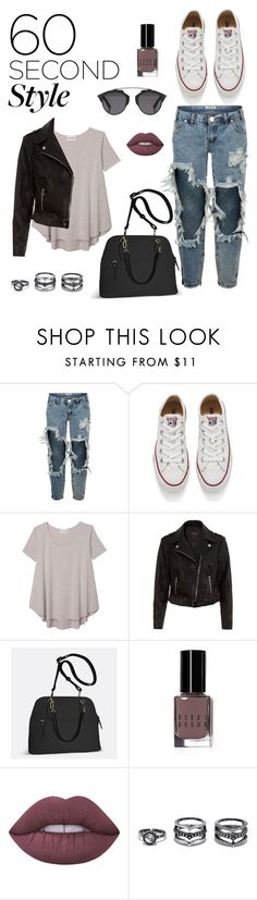 """Everyday outfit"" by lauramoracordoba ❤ liked on Polyvore featuring One Teaspoon, Converse, Olive + Oak, New Look, Avenue, Bobbi Brown Cosmetics, Lime Crime, Lulu*s, Christian Dior and men's fashion"