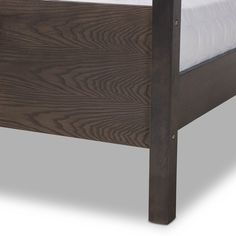 Natasha Modern and Contemporary Platform Canopy Bed - Overstock - 31227065 - King Bedroom Furniture Stores, Furniture Deals, Grey Oak, Dark Grey, Platform Canopy Bed, Baxton Studio, Mdf Wood, Wood Beams, Large Furniture