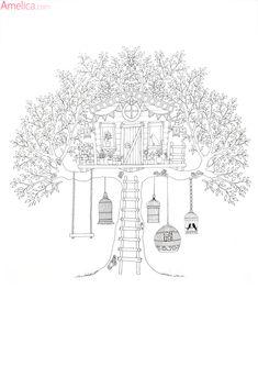 Раскраски для взрослых антистресс волшебный сад, зачарованный лес