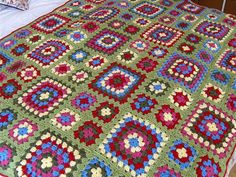 Crochet Granny Blanket by MarmaladeRose, via Flickr