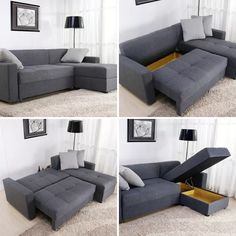 Small Space Solutions 12 Cool Pieces of Convertible Furniture : convertible sofa sectional - Sectionals, Sofas & Couches