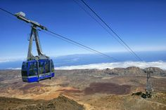 Getty Spain, Tenerife, view from the cable car from the Mount Teide summit