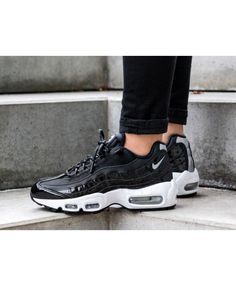 san francisco e9792 3e3ce Get the latest discounts and special offers on nike air max 95 premium se  leather black white trainer   shoes, don t miss out, shop today!