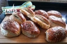 Dereotlu Tambuğday Unlu Poğaça Pretzel Bites, Bagel, Hamburger, Bread, Food, Recipes, Brot, Essen, Recipies