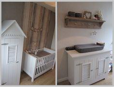 Babykamer // steigerhout // nursery