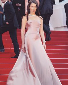 #BellaHadid attends 'Ash Is Purest White' premiere at the 71st Cannes Film Festival in Cannes, France.