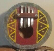 Guineanstyle bass thumb piano gongoma by PanAfricanArts on Etsy, $115.00