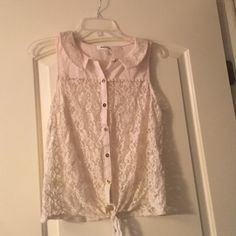 Lace crop top with buttons Lace crop top with buttons Monteau Tops Crop Tops