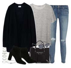"""""""Sin título #3070"""" by hellomissapple ❤ liked on Polyvore featuring Paige Denim, T By Alexander Wang, Acne Studios, Balenciaga, Yves Saint Laurent, Forever 21, Michael Kors and Christian Dior"""