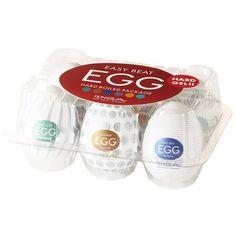 Los nuevos huevitos TENGA Egg Hard Boiled incorporan una nueva textura para sensaciones más fuertes que las del resto de sus antecesores porque el gel usado en su fabricación es más duro. ¡Recomendado sólo para los más arriesgados! Incluye: 1 x Crater 1 x Misty 1 x Thunder 1 x Surfer 1 x Shiny 1 x Cloudy