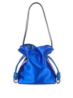 loewe flamenco knot small satin shoulder bag loewe bags shoulder bags