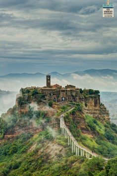 "The original pin states ""This is the abandoned village of Craco in Basilicata, Italy"" But It looks like Civita di Bagnoregio"