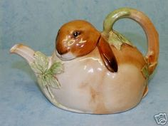 Early c.1939 to 1945 Royal Doulton Bunnykins figural Teapot, designed by Charles Noke