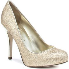 gold glitter heels. Sparkly but not over the top. I want these