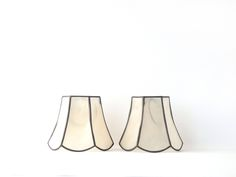 """Vintage Lamp Shades Pair Capiz Shell Chandelier Home Decor Lighting Shade Clip On 4"""" High Very Nice by AveryandAllen on Etsy"""