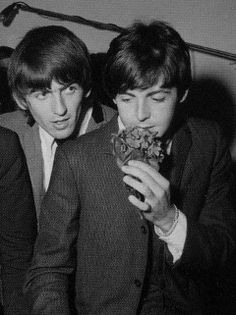 Are your Favorite Beatles Paul McCartney and George Harrison? Beatles Love, Les Beatles, Beatles Photos, George Harrison, Paul Mccartney, Great Bands, Cool Bands, Sir Paul, Love Me Do