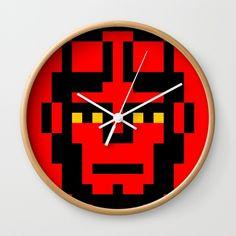 Hellboy minimal 8bit wall clock on society6 by 8bitbaba. #hellboy #pixelart #8bitart #portrait #8bitbaba