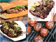 Grilling burgers on Memorial Day is a time-honored tradition, and for good reason. But there are those among us who consider any outdoor fire wasted if it's not going to result in a steak. This collection of 13 recipes includes some of our favorite treatments for steak (stuffed tenderloin, smoked porterhouse, skirt steak fajitas...), plus other tasty cuts like beef ribs and short ribs.