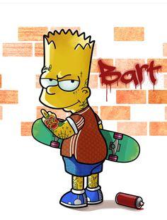 Badass Bart, The Simpsons Graffiti Wallpaper Iphone, Simpson Wallpaper Iphone, Game Wallpaper Iphone, Apple Wallpaper, Simpsons Tattoo, Simpsons Drawings, Simpson Tv, Homer Simpson, Badass Drawings